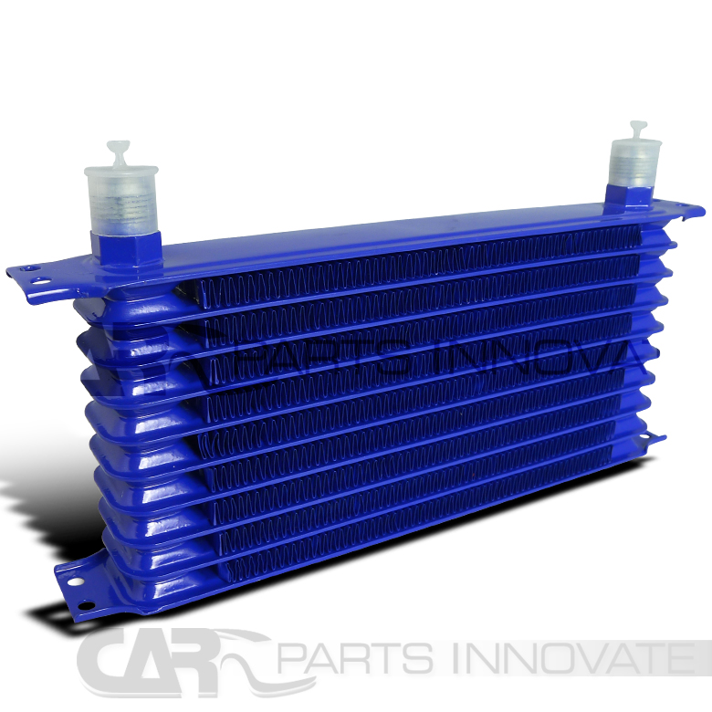 Differential Oil Cooler : Blue row an aluminum engine transmission differential