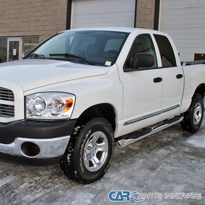 """02-08 Ram 1500 2500 Quad Cab 4"""" Polished Stainless Steel"""