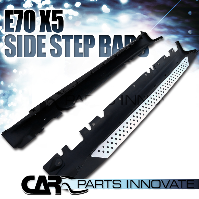 2008 And X5 And Bmw And Nerf And Running Board: 07-12 BMW E70 X5 3.0Si 4.8i Aluminum Side Step Nerf Bars