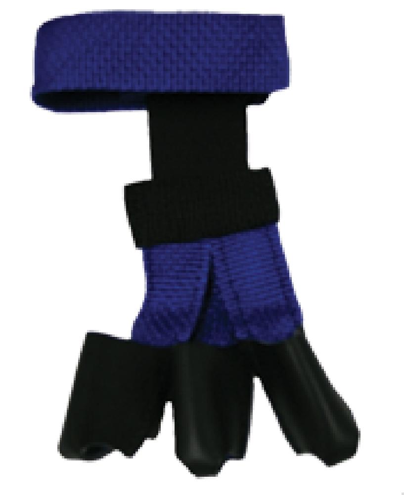 1502 BLUE Wyandotte Leather Youth Web Glove Blue Small