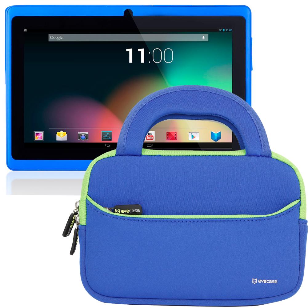 neoprene zipper sleeve handle case bag for dragon touch 7 dual cord y88 tablet ebay. Black Bedroom Furniture Sets. Home Design Ideas