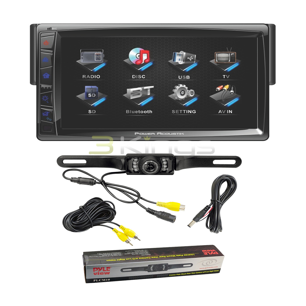 "Power Acoustik Pd712B 7"" Touchscreen Cd Dvd Car Player + License Plate Camera at Sears.com"