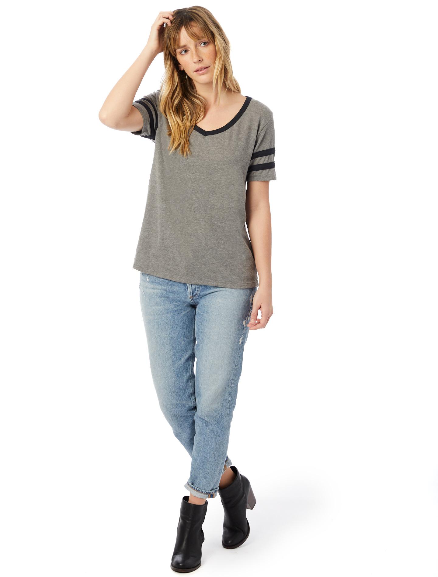 alternative apparel varsity vintage jersey t shirt ebay