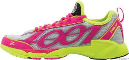 Zoot Ovwa Run Shoe: Silver/Pink/Yellow; Women's US 6