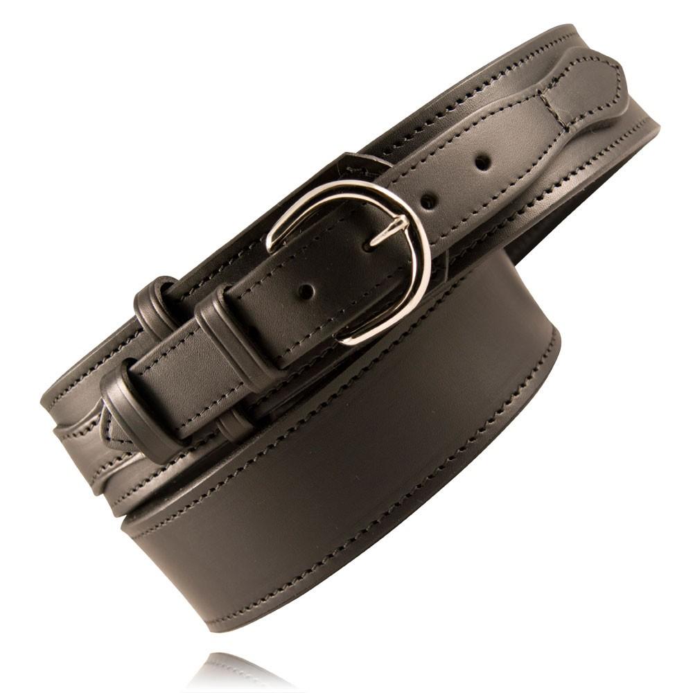 Boston Leather 6570 1 38 N Plain Black Nickel Buckle