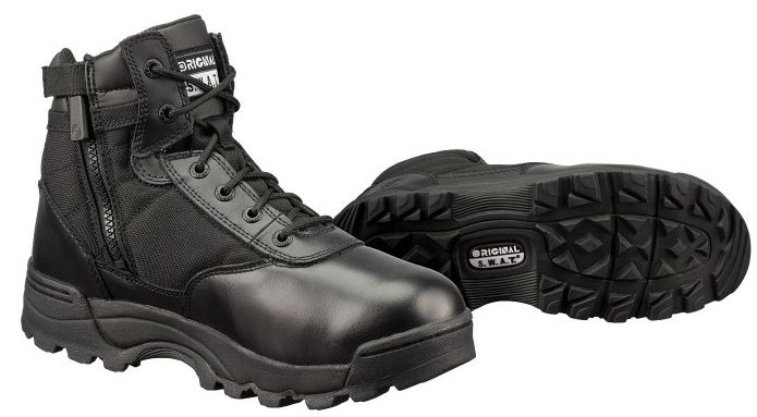 "Original S.W.A.T. Original Swat 116401 Men's Black Classic 6"" Side-Zip Leather Boot Size: 12 Wide at Sears.com"