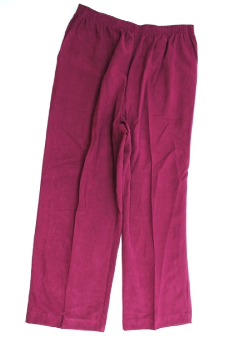 Alfred Dunner NEW ALFRED DUNNER WOMENS PROPORTIONED SHORT PURPLE PANTS 16P at Sears.com