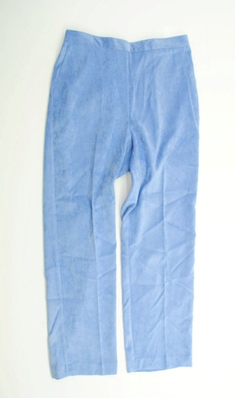 Alfred Dunner NEW ALFRED DUNNER WOMENS PROPORTIONES MEDIUM   STRETCH BLUE PANTS 10 at Sears.com