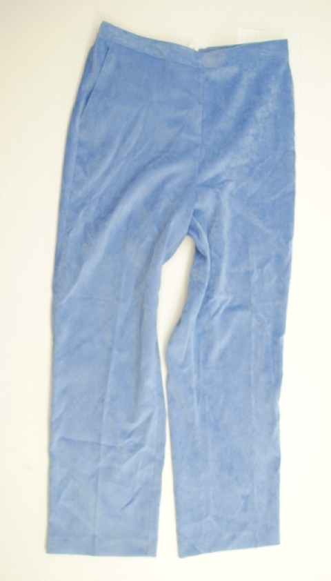 Alfred Dunner NEW ALFRED DUNNER WOMENS PROPORTIONED MEDIUM  STRETCH BLUE PANTS 12 at Sears.com
