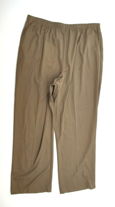 Alfred Dunner NEW ALFRED DUNNER WOMENS PROPORTIONED MEDIUM BROWN PANTS 20 at Sears.com