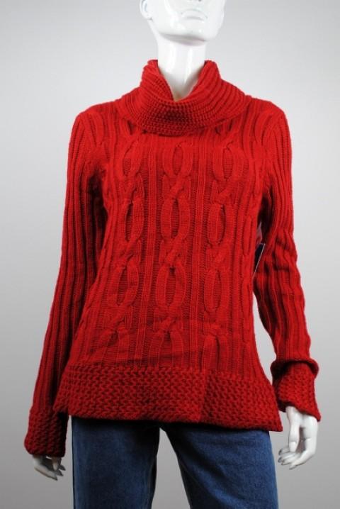 BandolinoBlu NEW BANDOLINOBLU WOMEN'S COLLARED RED SWEATER L at Sears.com