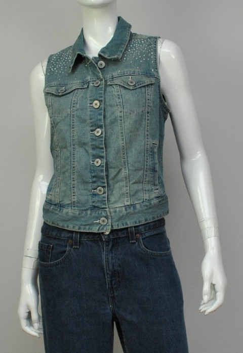 STYLE & CO. JEANS NEW STYLE & CO. JEANS WOMENS VEST JACKET BLUE JACKET XL at Sears.com