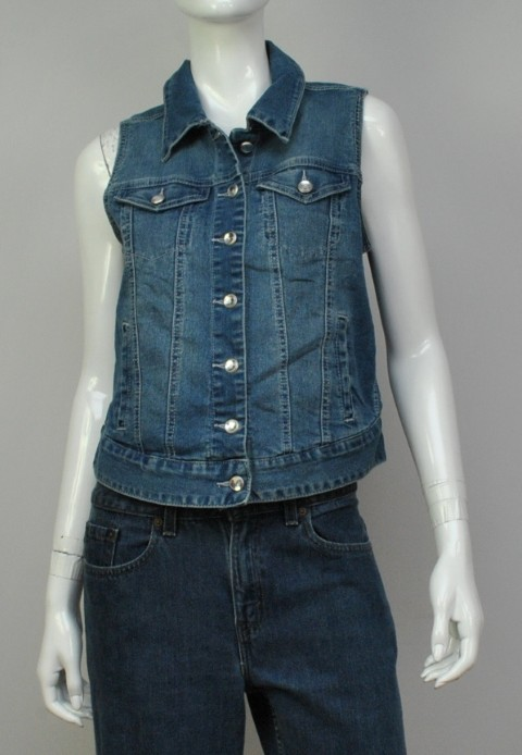 STYLE & CO. JEANS NEW STYLE & CO. JEANS WOMENS VEST JACKET BLUE JACKET M at Sears.com