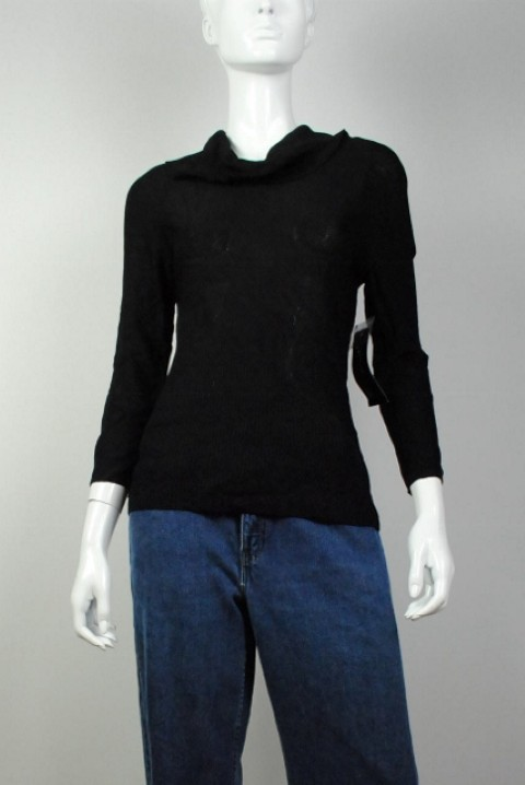 Jones New York Collection NEW JONES NEW YORK COLLECTION WOMEN'S COLLARED BLACK SWEATER S at Sears.com