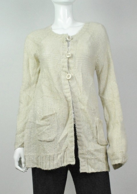 Style & Co. NEW STYLE & CO. WOMEN'S CARDIGAN BEIGE SWEATER M at Sears.com