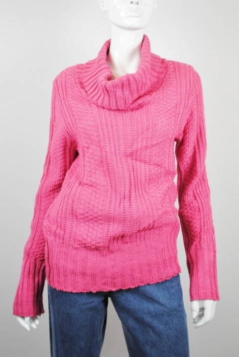 UNITED STATES SWEATERS NEW UNITED STATES SWEATERS WOMEN'S COLLARED PINK SWEATER L at Sears.com