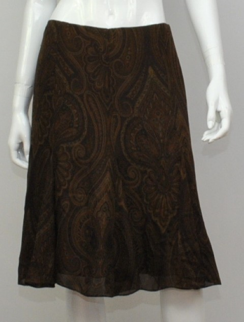 lauren ralph lauren NEW LAUREN RALPH LAUREN WOMEN'S A-LINE BROWN SKIRT 2 at Sears.com