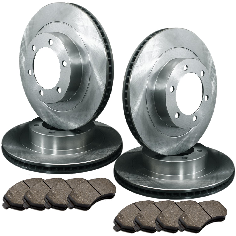 Brake Pad Replacement : Front rear stock oe replacement brake rotors semi