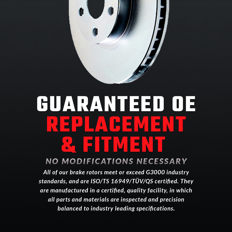 F+R STOCK OE REPLACEMENT BRAKE ROTORS /& 8 SEMI-METALLIC PADS ATL029158