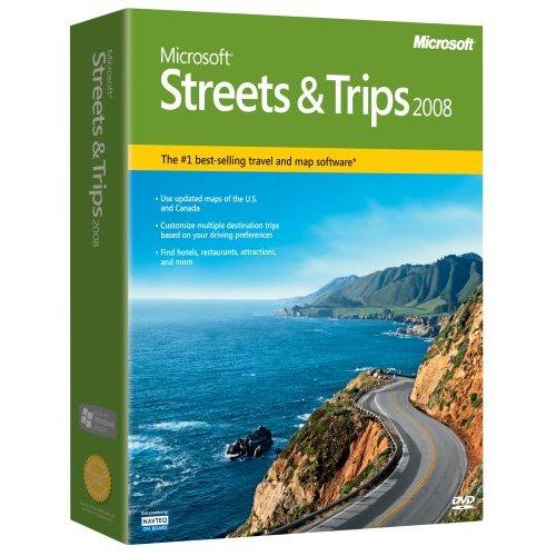 Microsoft Streets and Trips 2008 GPS Software - Free USA Shipping.