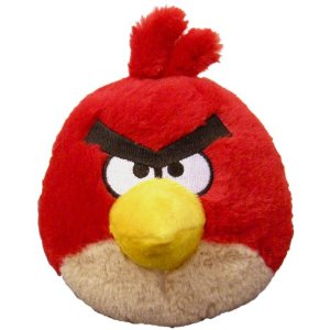 """CommonWealth Toys Angry Birds 5"""" Plush Red Bird With Sound at Sears.com"""