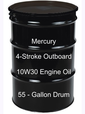 mercury 4 stroke outboard 10w30 engine oil 55 gallon drum