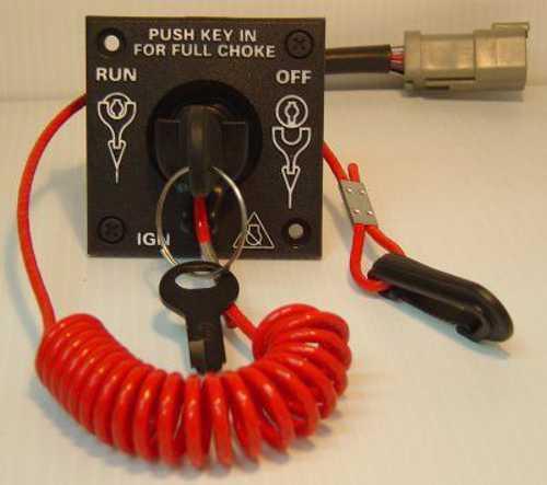 Brp Johnson  Evinrude Single Engine Key Switch Kit 0176408