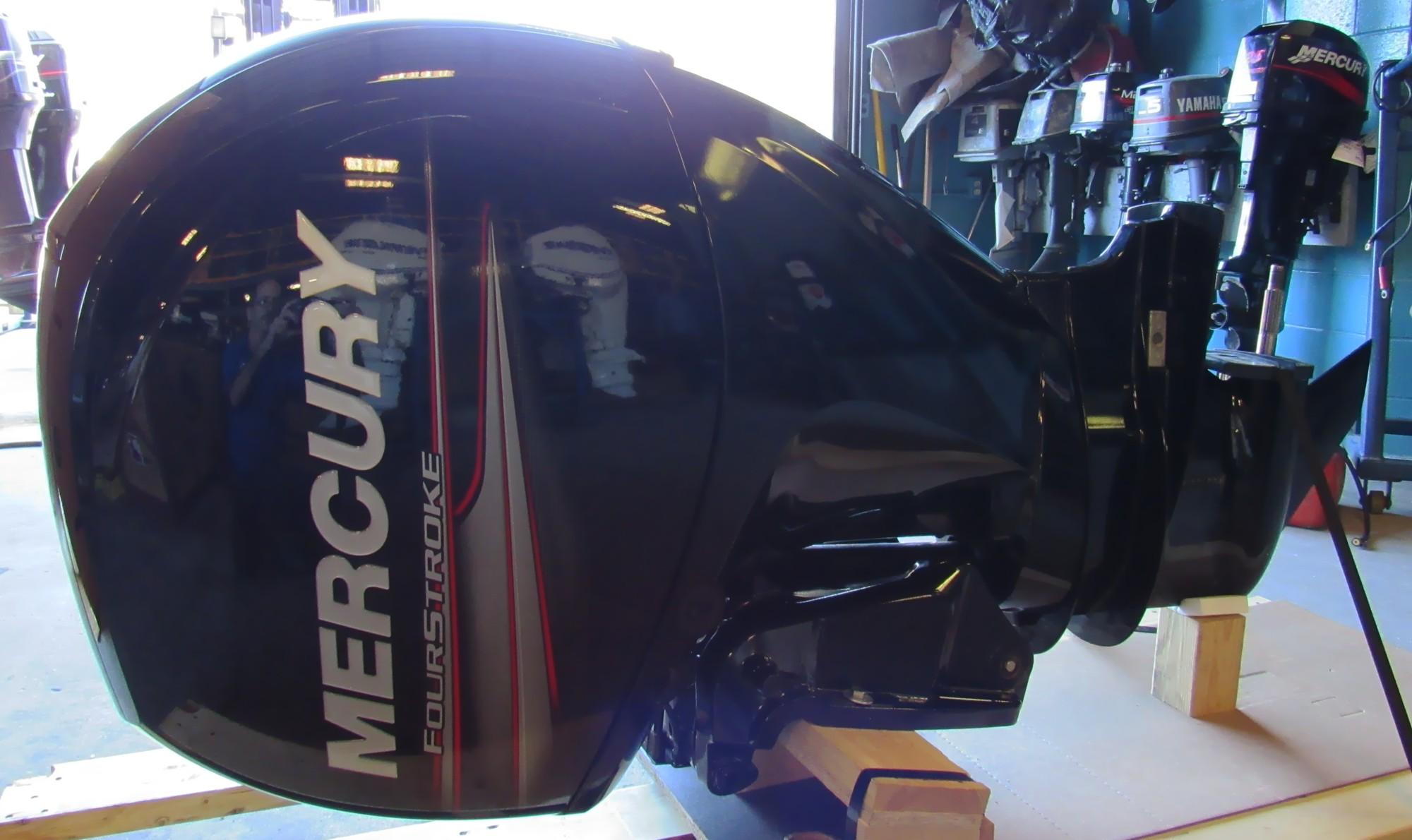 Certified pre owned 2014 mercury 150xl efi 150hp 4 stroke for Sailboat outboard motor size calculator