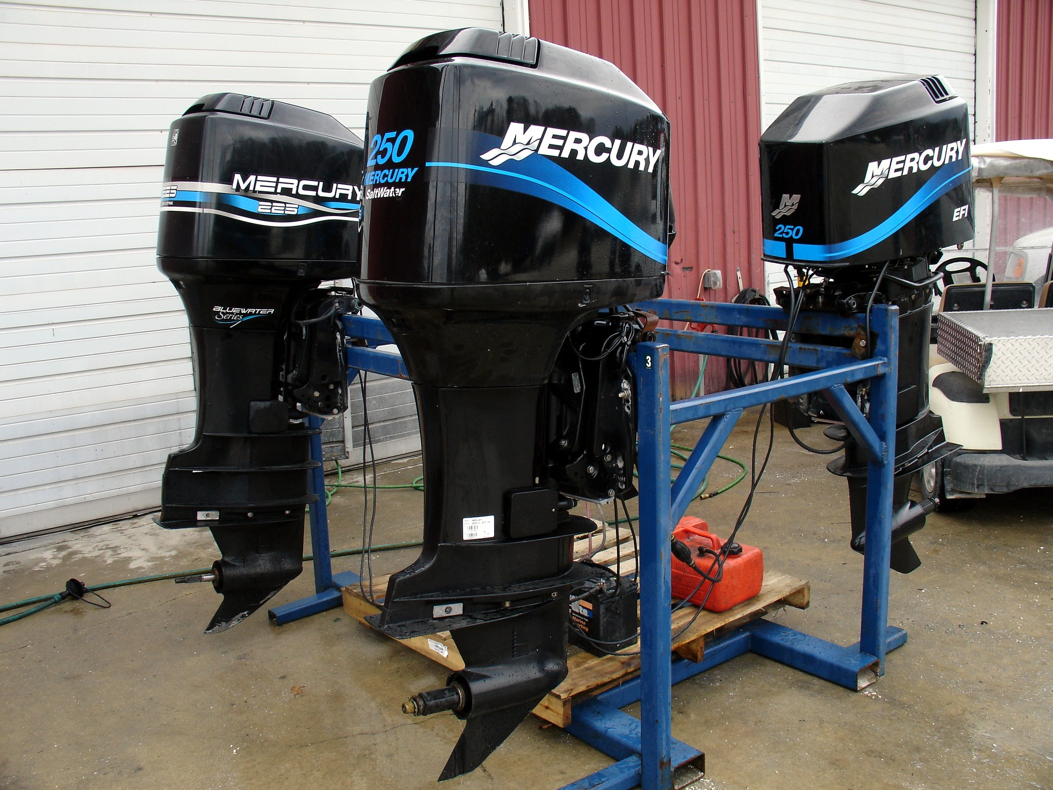 Used 2001 mercury marine 250xl 250hp efi saltwater for Used 200 hp mercury outboard motors for sale