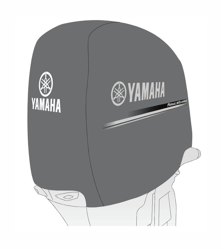 Oem yamaha heavy duty f150 outboard motor cover mar mtrcv for Yamaha boat motor covers