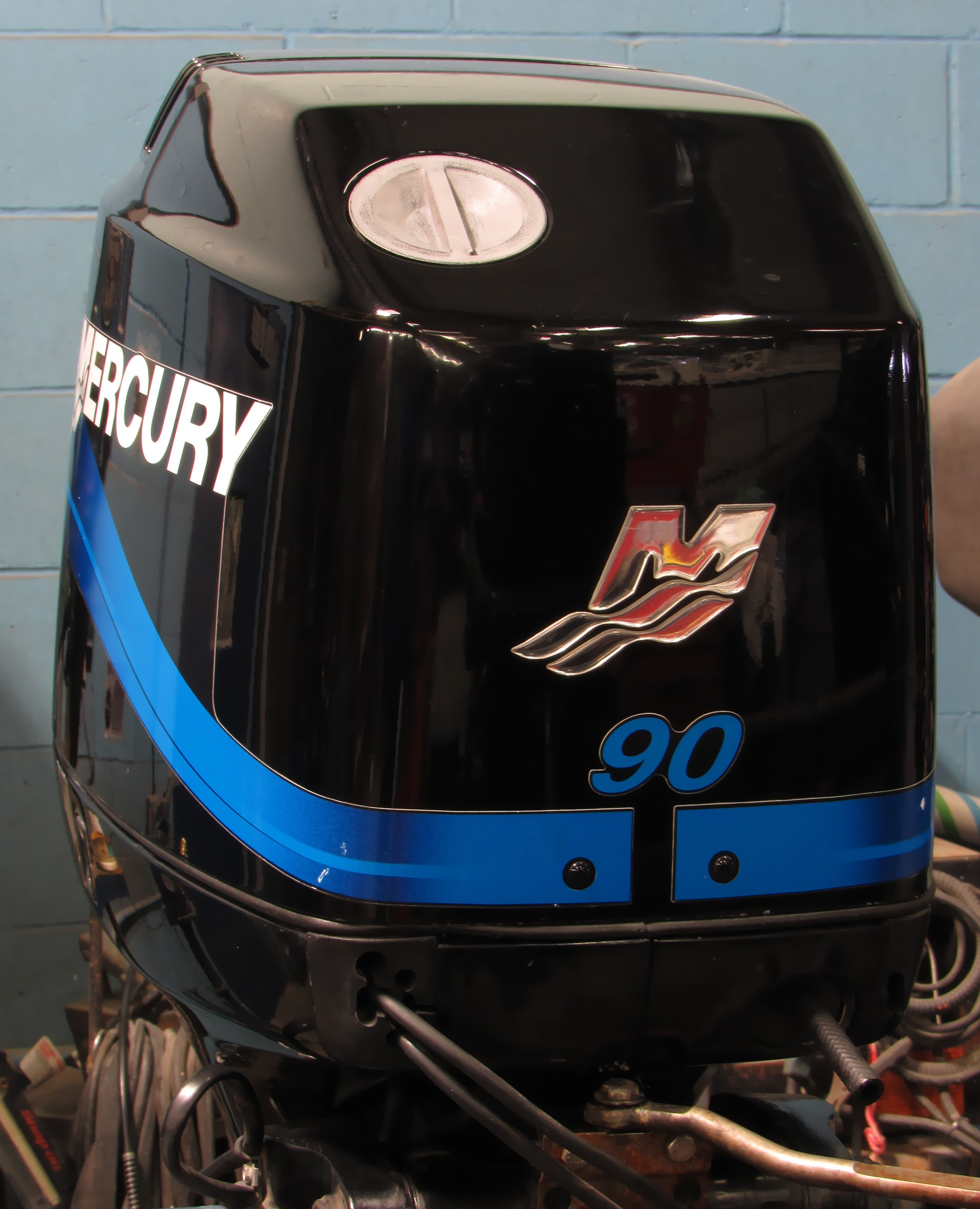 Used 2000 mercury 90elpto 90hp 2 stroke saltwater outboard for Mercury 90 hp outboard motor