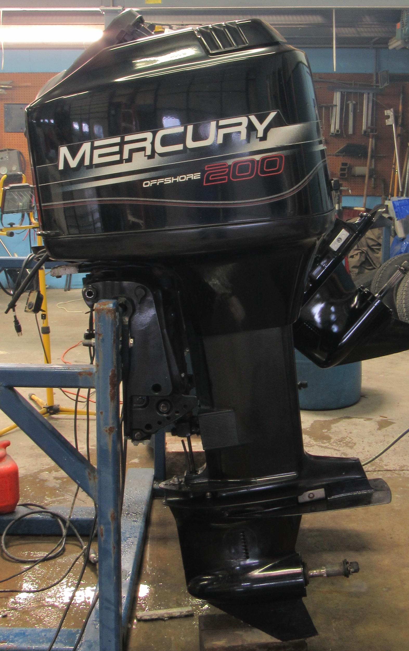 Used 1998 mercury 200xl 200hp 2 stroke remote outboard for 2 stroke boat motors