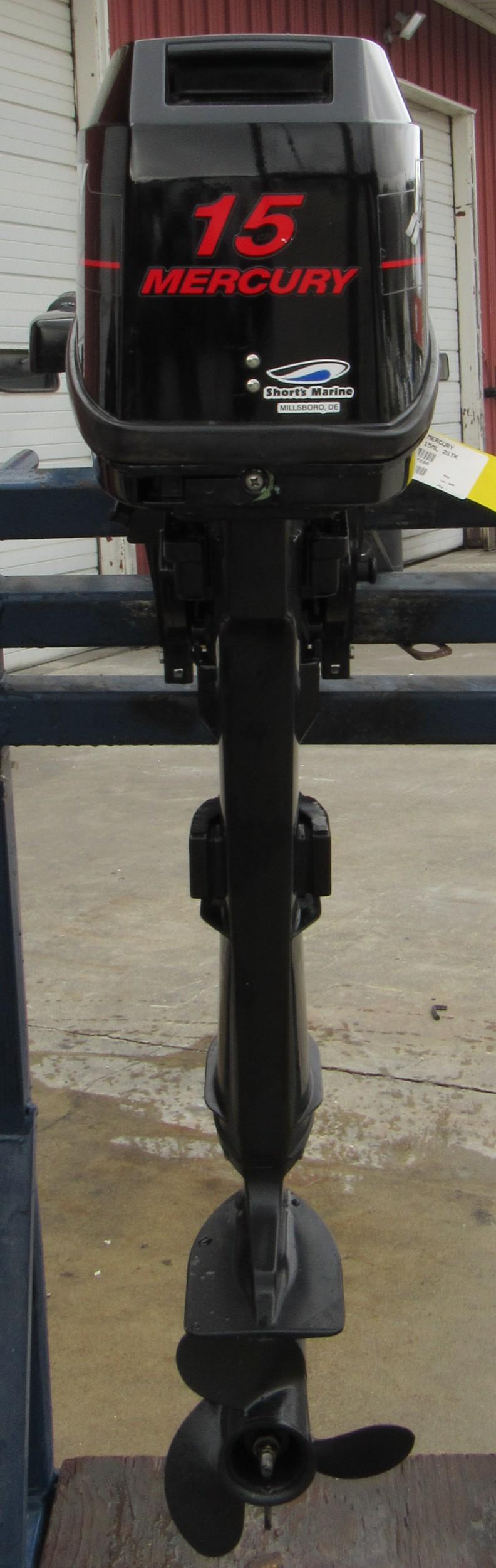 Used 2005 mercury 15ml 15hp two stroke tiller outboard Two stroke outboard motors