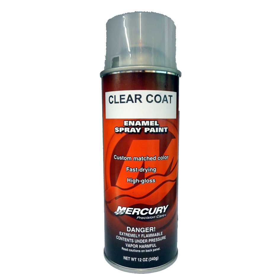 buy oem mercury precision clear coat spray paint 92 802878. Black Bedroom Furniture Sets. Home Design Ideas
