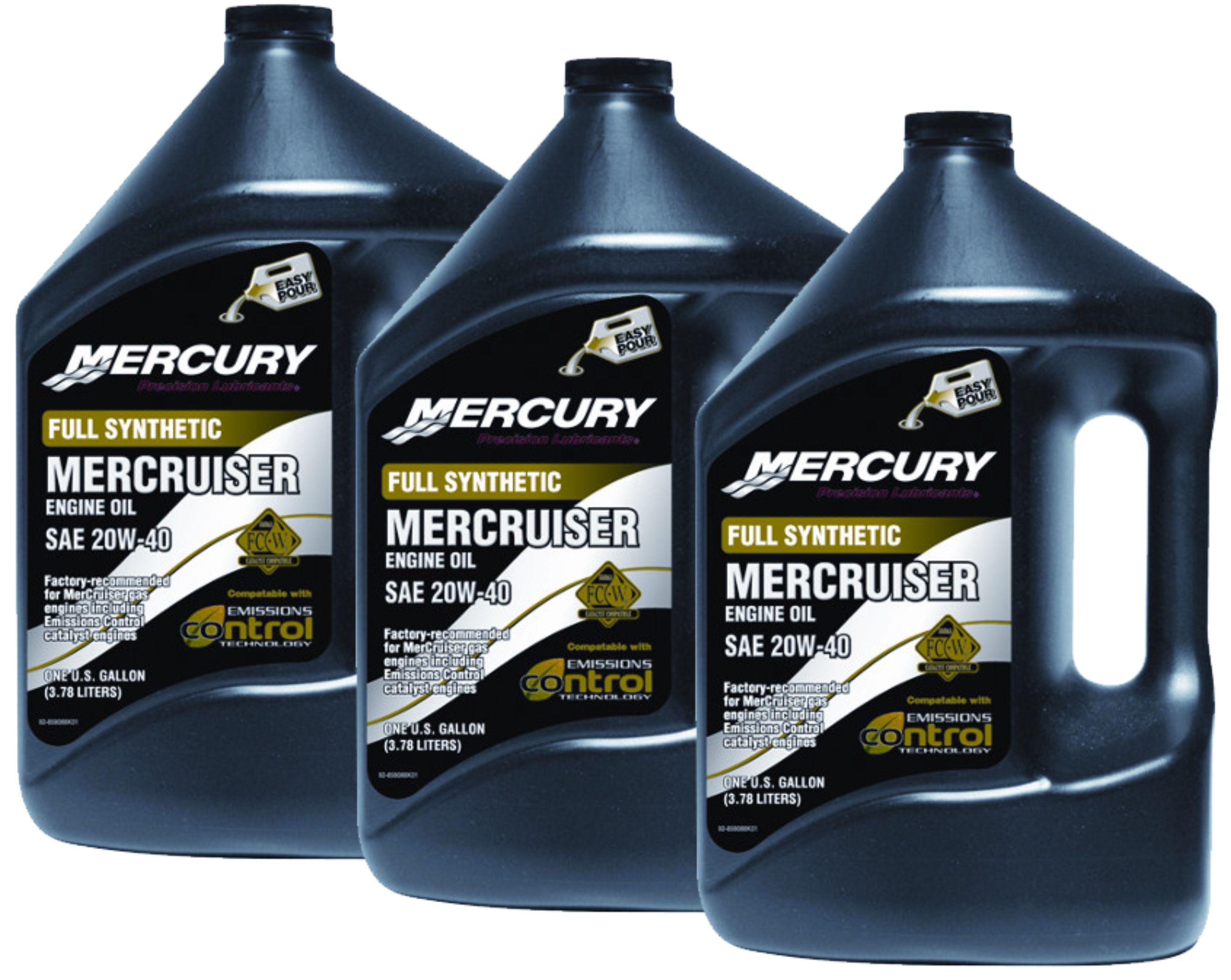 Mercury Mercruiser 4 Cycle 20w 40 Synthetic Engine Oil 3