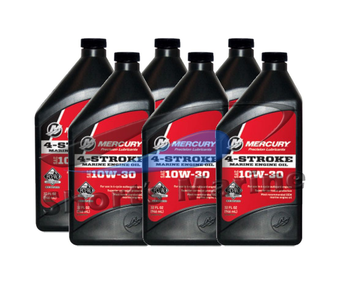 Sell oem mercury 4 stroke fcw 10w 30 outboard motor oil for Case of motor oil prices
