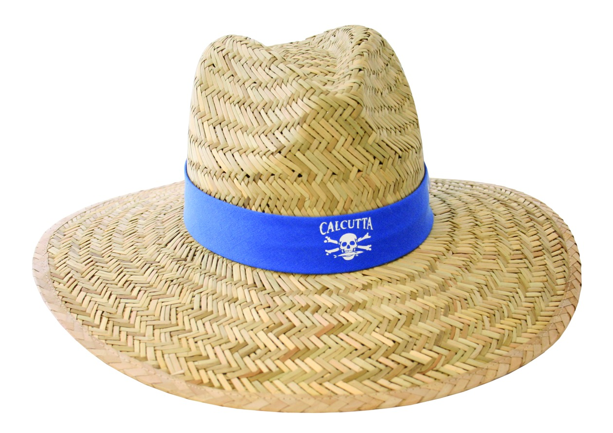 Calcutta fishing men 39 s natural straw one size hat ebay for Fishing straw hat