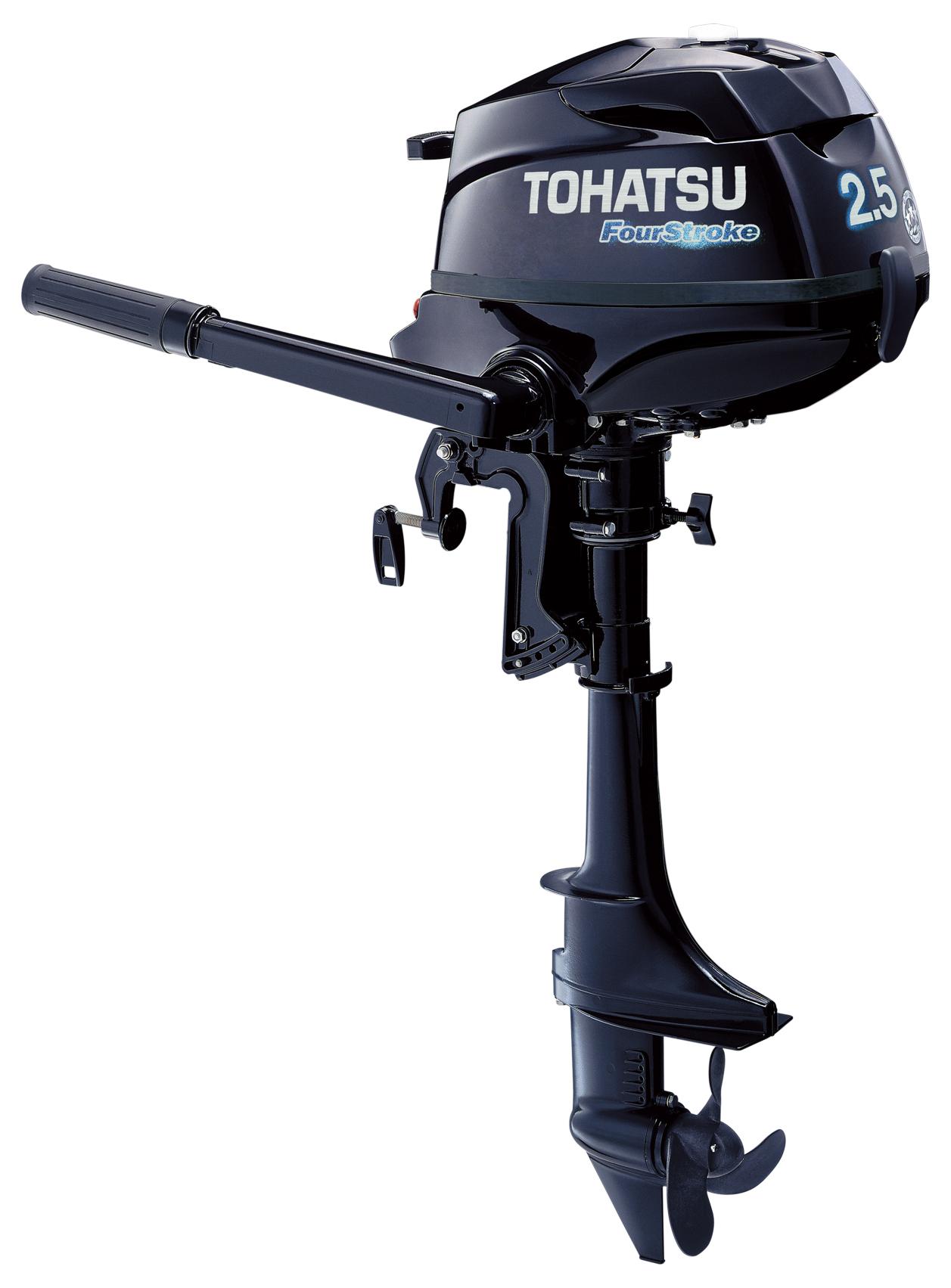 2016 Tohatsu 2 5 Hp 4 Stroke Outboard Motor Tiller 15 Shaft Engine Ebay