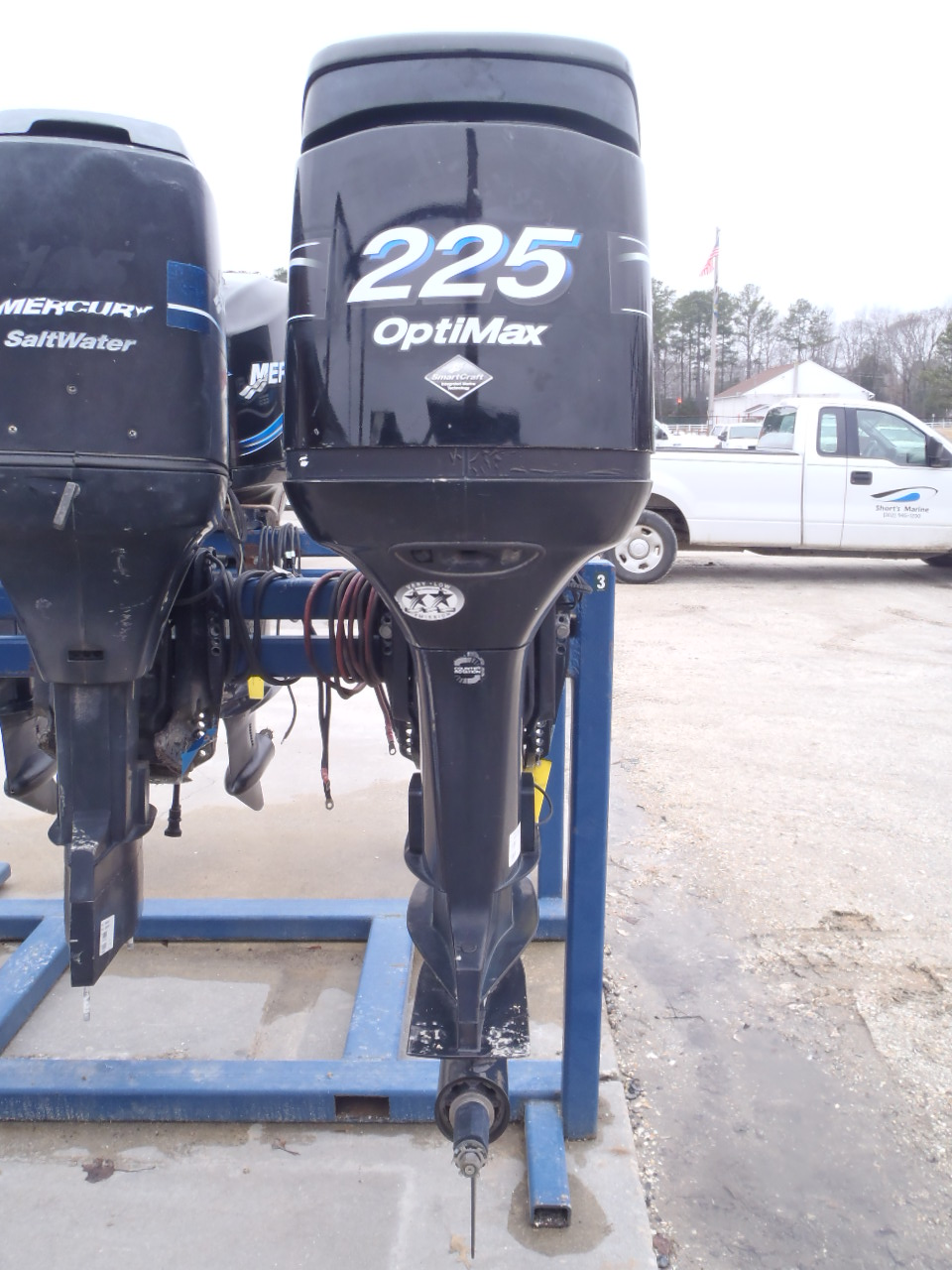Used 2003 mercury 225xl saltwater optimax 225hp boat motor for Buy new mercury outboard motor