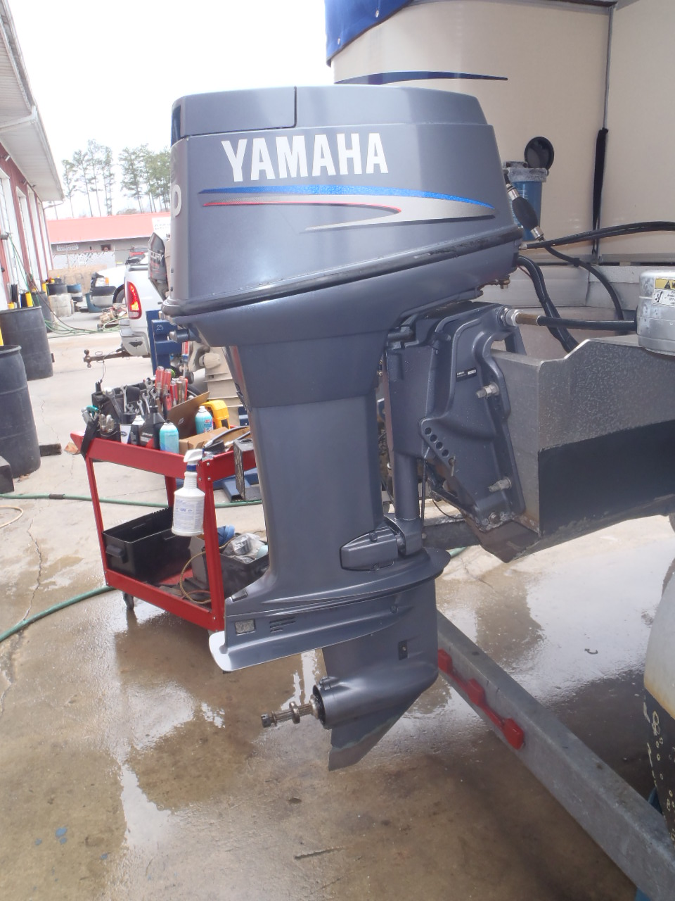 used 2004 yamaha 50tlrc 50hp 2 stroke remote outboard boat