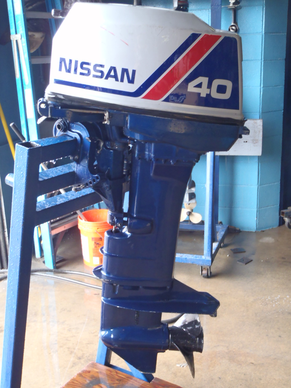 Used 1986 nissan ns40cep2 40hp 2 stroke remote outboard for 2 stroke boat motors