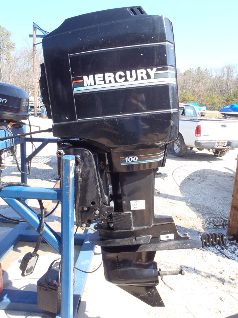 1993 Used Mercury 100elpto 100hp 2 Stroke Remote Outboard