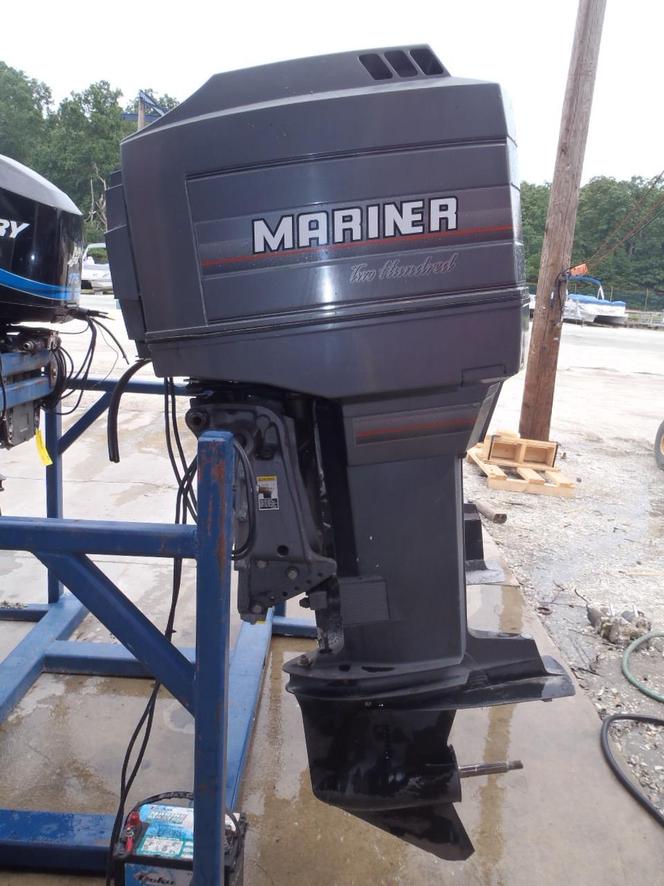 Used 1990 mariner 200xl sw 200hp 2 stroke outboard boat for Ebay boat motors outboard