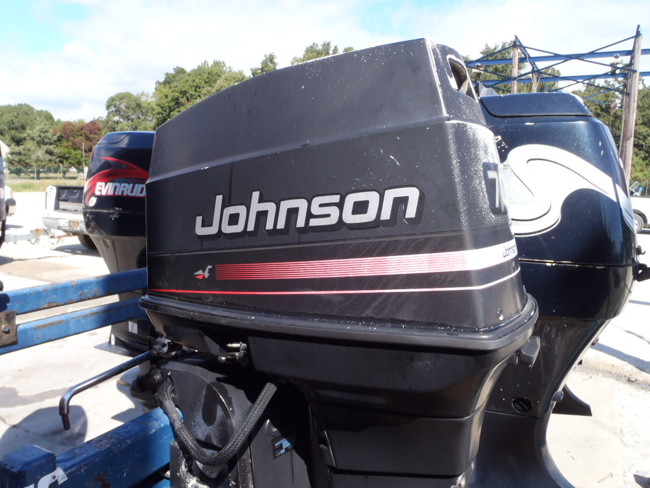 Used 1996 Johnson J70tleda 70hp 2 Stroke Outboard Boat