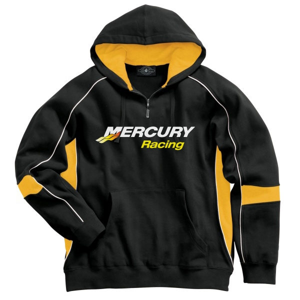 Mercury Marine Outboards Racing Victory Hooded Sweat Black