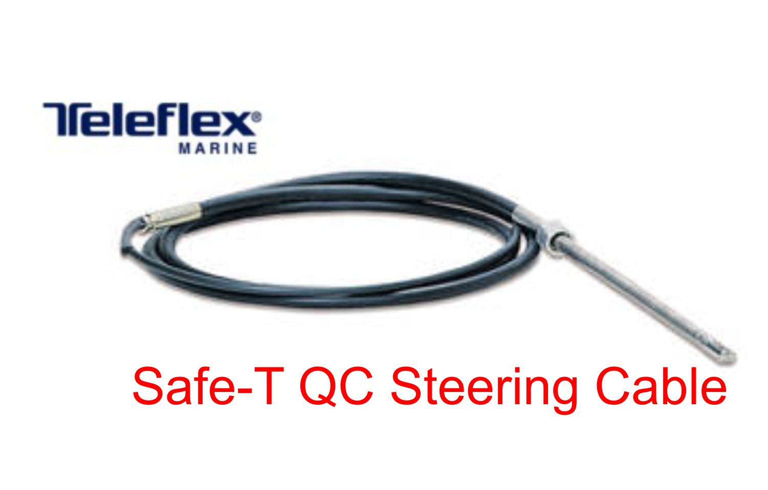 Purchase 11 39 teleflex marine safe t qc rotary boat for Outboard motor steering cable replacement