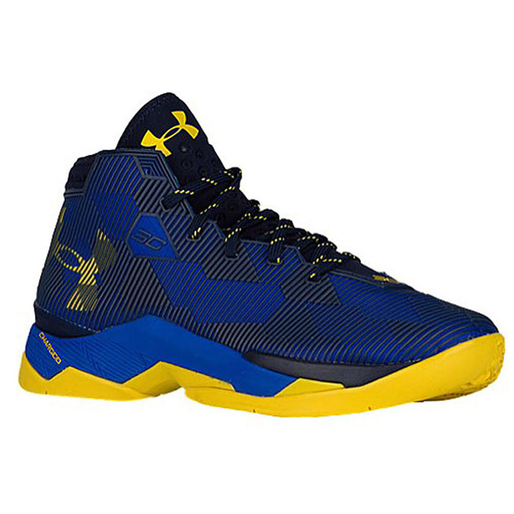 Currys Basketball Shoes For Kids Black And Yellow Foot Locker