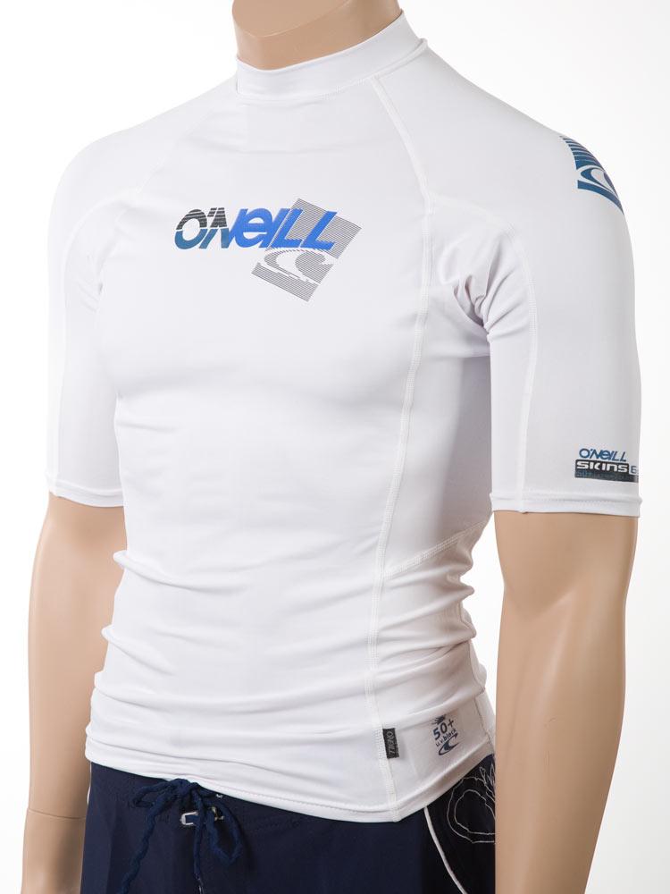 O 39 neill men 39 s short sleeve rashguard lycra swim shirt for Mens long sleeve uv protection shirt