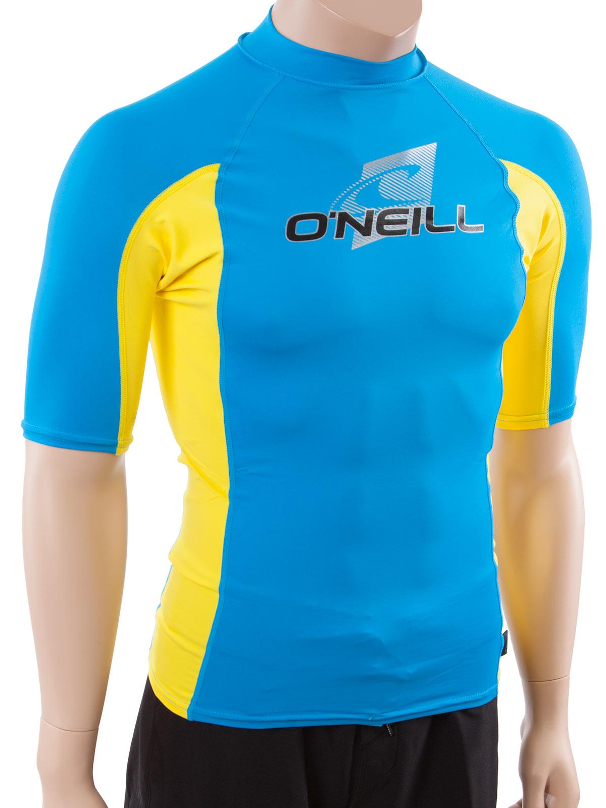 O 39 neill men 39 s short sleeve rashguard lycra swim for Men s uv swim shirt short sleeve