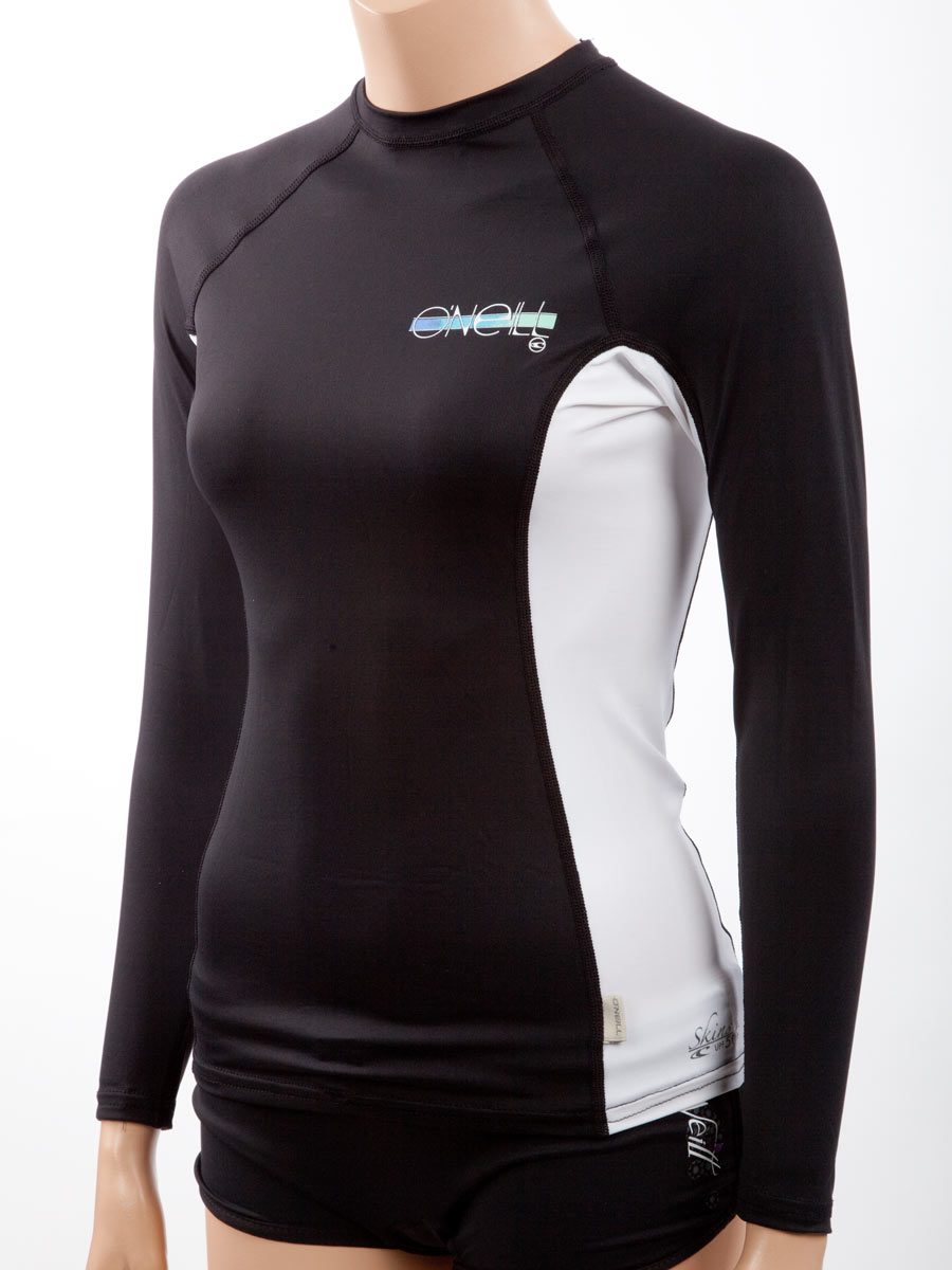 O 39 Neill Women 39 S Long Sleeve Rashguard Lycra Shirt With 50